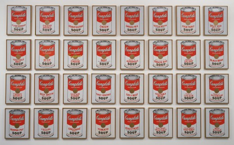 Warhol Soup Cans 1962