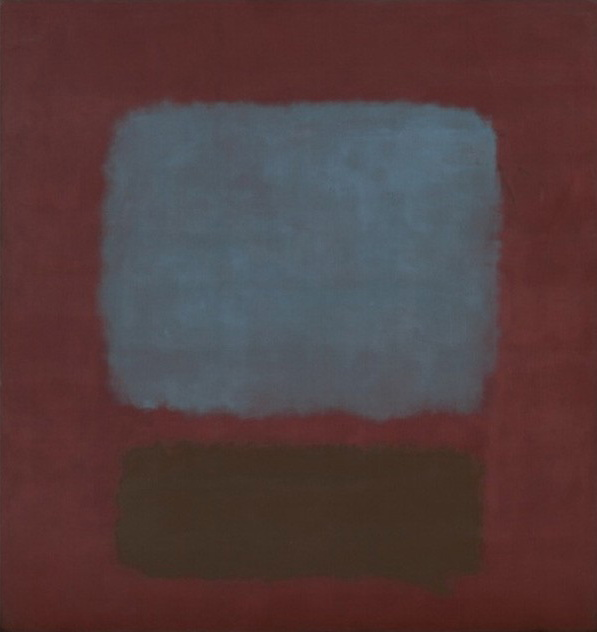 Mark Rothk No.37No.19-Slate-Blue-and-Brown-on-Plum-1958 MOMA