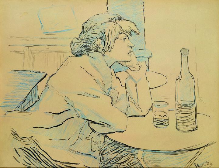 Henri Toulouse-Lautrec, The Drinker / The Hangover / Portrait of Suzanne Valadon, 1887-88