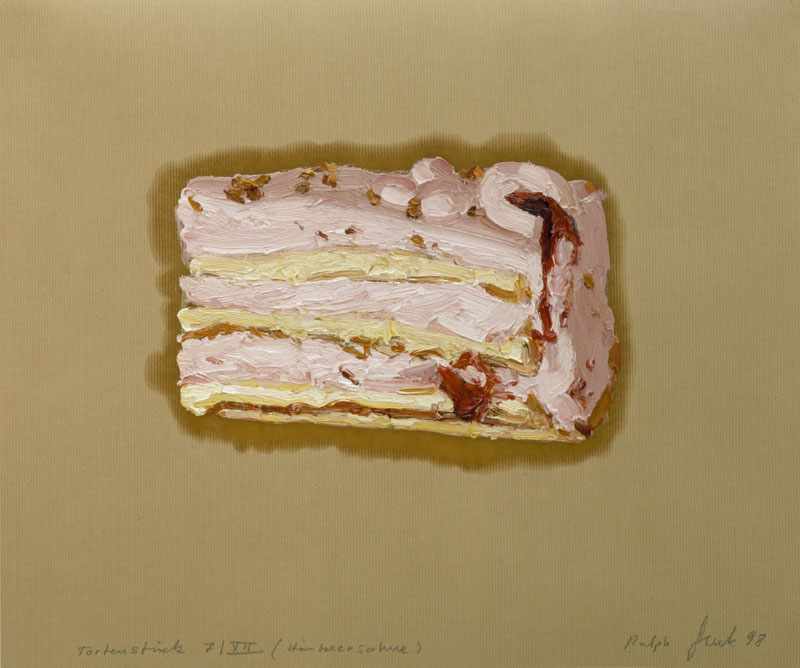TortenstŸck 7/XII (Himbeersahne) 1998 …l/P. 50 x 60 cm